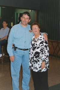 Russ Padden & Joan Iversen 2002 at her 70th birthday