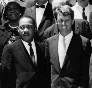 Martin Luther King and Robert F. Kennedy together