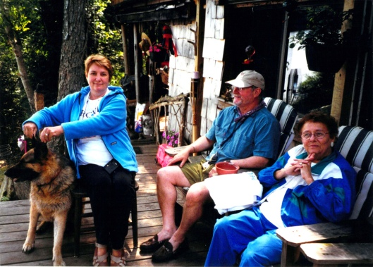 Jenifer and Bill Whitehill, long time friends, with Joan Iversen (2000)