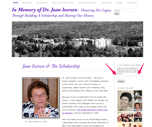 Sign up for Joan Iversen Blog