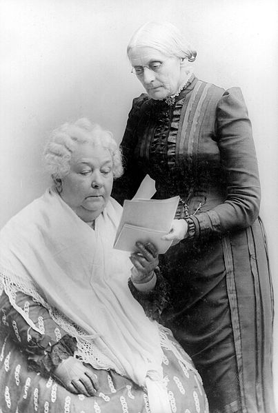 Gavin Masterson shares how he first learned of Elizabeth Cady Stanton from his courses with Dr. Iversen. Stanton (seated) is pictured with Susan B. Anthony.