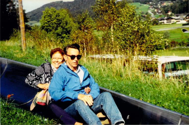 Jack and Joan on their trip to Germany